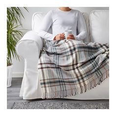 HERMINE Throw, beige, brown 47x71