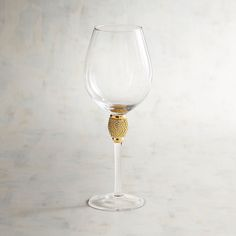 Jewel Gold Goblet Red Wine Glass