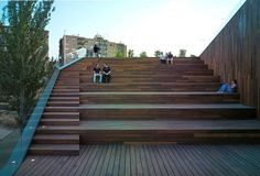 wooden terraced stairs seating - Google Search
