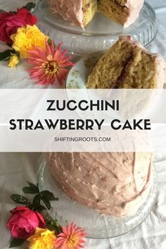 Tired of the typical chocolate zucchini cake?  Try something new with this strawberry zucchini cake.  All the flavours of late summer and it gets rid of some excess zucchini.  You're welcome.