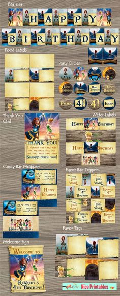 Pirate Fairy Invitation disney fairy Pirate by NicePrintables Fairy Birthday Party, 4th Birthday Parties, Birthday Favors, 5th Birthday, Birthday Ideas, Happy Birthday, Pirate Fairy Cake, Pirate Party, Tinkerbell Party