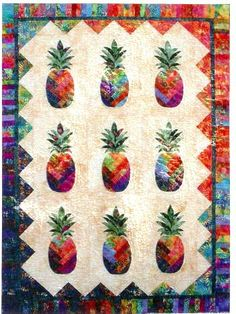 Sunshine Pineapple Quilt pattern, straight from Kauai