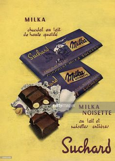 Advertising for chocolate Milka, 50's