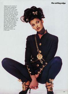 Linda Evangelista, Vogue January 1992. MATCHESFASHION.COM #MATCHESFASHION