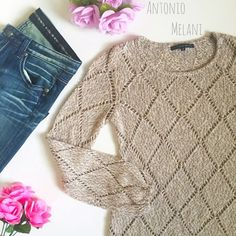 ❗️ Price drop❗️Antonio Melani sweater Gently used, EXCELLENT condition! Size M. 51% acrylic 42% polyester 7% metallic. 🎉🎉 ANTONIO MELANI Sweaters