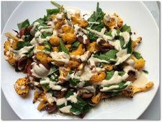 Cauliflower, Chorizo, Tomato and Tahini Sauce Salad Recipe
