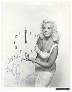 Jayne Mansfield signed photo