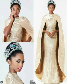 The Nigerian wedding page is dedicated to the style & class obsessed bride out there, offering fun & fantastic wedding ideas & inspirations on the latest wedding trends, DIY and more 💏💑👰💍💎💐🎂👫💄💇😘😍👌! African Attire, African Dress, Bridal Gowns, Wedding Gowns, Wedding Hijab, Wedding Cakes, Vestido Charro, Robes Glamour, Nigerian Weddings