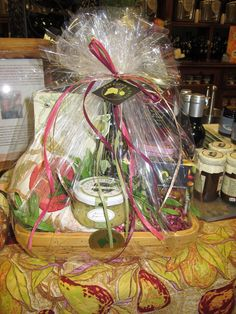 Save yourself the step, pick up one of our gorgeous pre-made gift baskets for your next event!