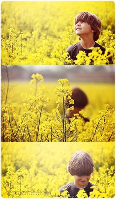 Boy in a golden field! I just adore shots of gorgeous boys in dreamy nature. Children Photography, Family Photography, Portrait Photography, Mother Daughter Poses, Canola Field, Yellow Fields, Spring Photos, Felder, Boy Pictures