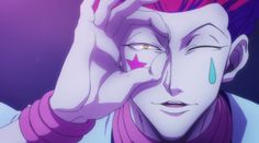hisoka - Because your hand can definitely be a makeshift binocular...