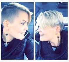 Sexy short haircut for fine straight hair