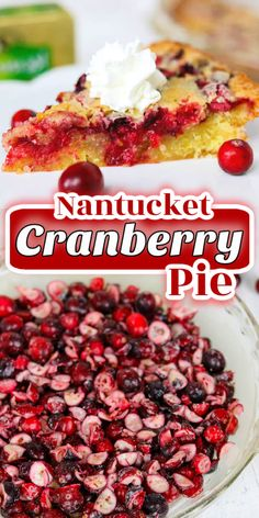 This crustless Cranberry Pie recipe with fresh cranberries in a delicious buttery cake is an easy holiday dessert. Made with Kerrygold Pure Irish Butter, you can be sure that everyone will enjoy it and come back for more. To be on the safe side, you might just want to make two. Tart Recipes, Best Dessert Recipes, Fruit Recipes, Baking Recipes, Delicious Desserts, Dinner Recipes, Easy Holiday Desserts, Holiday Baking, Fun Desserts