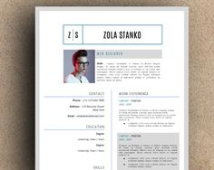 The Zola Resume Template by LeResume on Creative Market