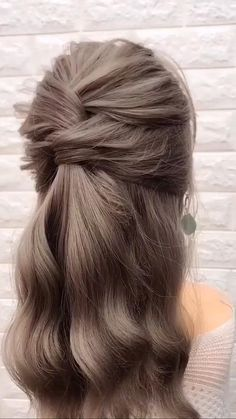 Easy Hairstyles For Long Hair, Hairstyles For School, Beautiful Hairstyles, Cute Little Girl Hairstyles, Simple Hairstyle Video, Greek Hairstyles, Step Hairstyle, Hair Updo, Wedding Guest Hairstyles