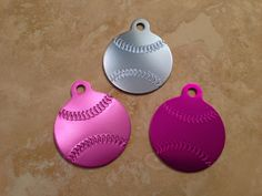 Laser Engraved Baseball Pet Tag by SPCustomAluminum on Etsy, $7.00 15% off with promocode PINTEREST