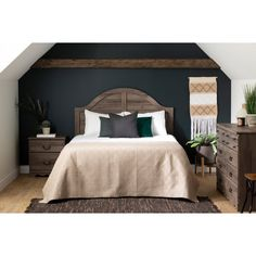 1727d3cf97554b Classic Country Fall Oak Queen Headboard - Prairie | RC Willey Furniture  Store 8 Drawer Dresser