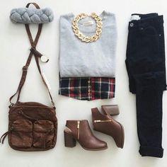 Grey Round Neck Long Sleeve Crop Sweatshirt