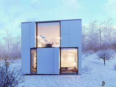 """Vray Workshop Image of the Week Marco Paurel - """"Winter House"""" 3d Architectural Visualization, Architecture Visualization, 3d Visualization, 3d Architecture, Architecture Graphics, Rendered Houses, Exterior Rendering, 3d Rendering, Render Image"""