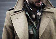 Beige Winter Coat. Collar