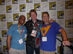 Longbox Graveyard author Paul O'Connor (center) with Horace Austin (left) and Keith Callbeck (right), San Diego Comic-Con 2012