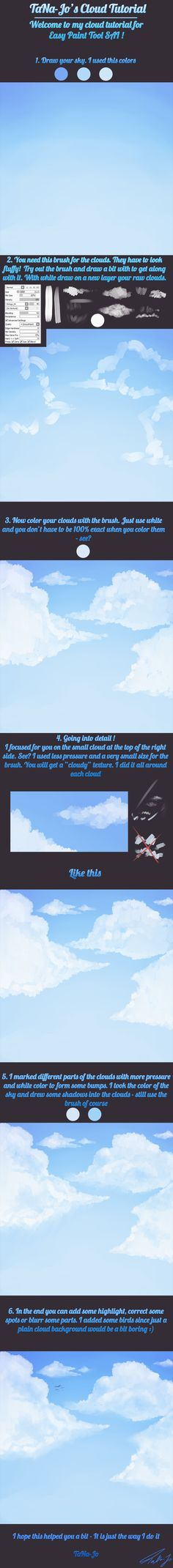 Cloud tutorial for Easy Paint Tool SAI by TaNa-Jo | Create your own roleplaying game books w/ RPG Bard: www.rpgbard.com | Pathfinder PFRPG Dungeons and Dragons ADND DND OGL d20 OSR OSRIC Warhammer 40000 40k Fantasy Roleplay WFRP Star Wars Exalted World of Darkness Dragon Age Iron Kingdoms Fate Core System Savage Worlds Shadowrun Dungeon Crawl Classics DCC Call of Cthulhu CoC Basic Role Playing BRP Traveller Battletech The One Ring TOR fantasy science fiction horror