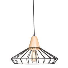 Diese Hängelampe ist eine Kombination aus rustikalem und industriellem Stil. Wenn Sie die nicht wählen! Die Lampe wurde aus Aluminium hergestellt und mit Holz verkleidet. Der Schirm hat einen Durchmesser von 41 cm. Darüber hinaus hat die Lampe eine E27-Fassung und eignet sich daher für alle Arten von Lichtquellen bis zu 40 Watt.