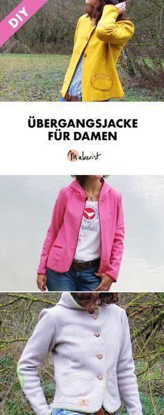 Zeitlose Übergangjacke für Damen - Nähanleitung via Makerist.de