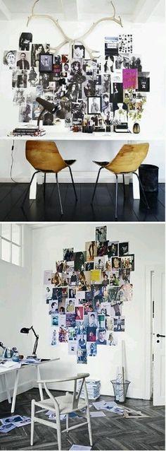 白い壁・無機質な黒・写真デコ