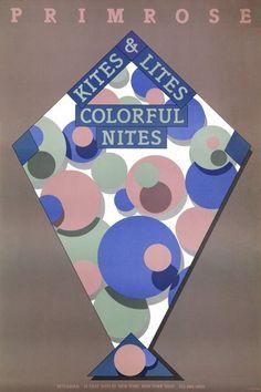 Milton Glaser, Primrose Kites and Lites Colorful Nights, 1982