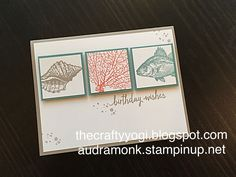 the crafty yogi: A Few of My Retiring Favorites, Remarkable Blog Hop, Stampin'Up! By the Tide.