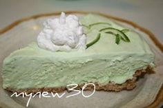 Lime Icebox Pie - A super tangy icebox pie made with lime juice, lime zest and a packet of lime Kool-Aid, made in a pretzel crust