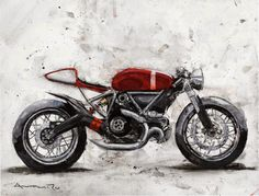 Moto Art-Antihero-x #design #motorcycles | caferacerpasion.com