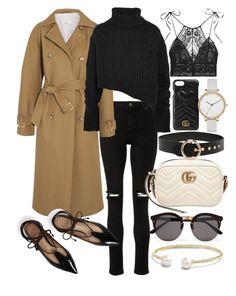 """Untitled #22148"" by florencia95 ❤ liked on Polyvore featuring TIBI, Ann Demeulemeester, Illesteva, Tory Burch, Gucci, David Yurman, STELLA McCARTNEY, Forever 21 and Skagen"