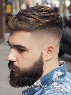 18 Hottest Fade Hairstyles For Men in - Men's Hairstyle 2019 7 Fade Hairstyles For Men Mens Hairstyles Fade, Latest Hairstyles, Cool Hairstyles, Casual Hairstyles, Fringe Hairstyles, Medium Hairstyles, Wedding Hairstyles, Best Short Haircuts, Haircuts For Men