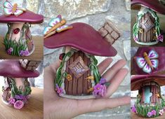 polymer clay fairy house - חיפוש ב-Google