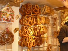Pretzel stand at a Salzburg Christmas Market I'd love to go to this someday!