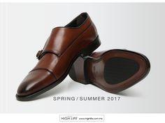 La opción contemporánea del clásico zapato Derby, es la doble correa monje pulida a mano con una estética única y distintiva. #HighLife
