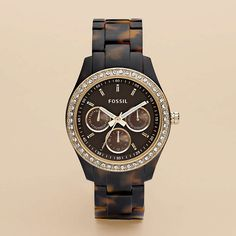 FOSSIL® Watch Collections Stella: Stella Resin Watch - Tort with Gold-Tone ES2795 $105