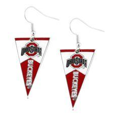 Ohio State Buckeyes Women's Pennant Dangle Earrings
