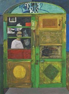 Alberto Morrocco, Door in Orbitello, Italy, 1966 Paintings I Love, Italian Artist, Beach Scenes, Global Art, Figure Painting, Art Market, Word Art, Art Drawings, Art Photography