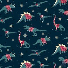 Dinos In Sweaters! #dinosaurs #illustration #patterns #weird