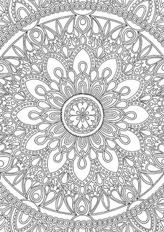 * Delightful Mandala * An intricate and super duper detailed illustration. Hand drawn by myself, coloured by YOU! Buy it • Print it • Colour