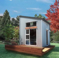 Vancouver-area builder Mint Tiny House Company (which began life as Tiny Living Homes) offers three variations of their basic 160-square-foot tiny house built on top of a custom-made 20-foot trailer. The Poco and Cabin in The Woods models both use a similar footprint, while the Napa edition has a dormer roof, offering a bit more room …