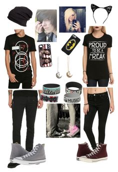 """""""~Forever~"""" by unicorn1233 ❤ liked on Polyvore featuring Converse and H&M"""