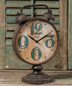Look at this #zulilyfind! Two Bell Table Clock by Ragon House #zulilyfinds