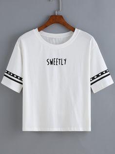 Heart Letter Print T-shirt 7.90