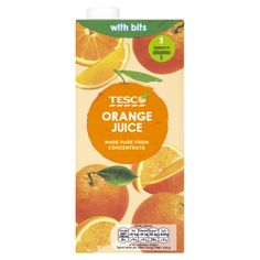 #Tesco! Orange juice. Made pure from concentrate.