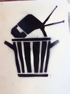 Throw away your television stencil