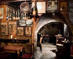 We met at Gordon's wine bar!  Gordon's Wine Bar (est. 1890), 47 Villiers Street, City of Westminster (between Charing Cross and Embankment). www.gordonswinebar.com